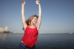 Free Woman On A Blue Sky Royalty Free Stock Photos - 8365978