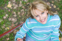 Woman On A Swing Royalty Free Stock Image
