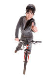 Woman On Bike Stock Images
