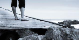 Free Woman On Bridge Royalty Free Stock Image - 1793246