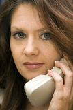 Woman On Phone With Concerned Expression Royalty Free Stock Image