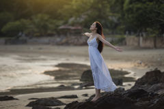Free Woman On The Beach Royalty Free Stock Photography - 91523617