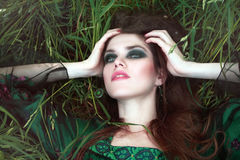 Free Woman On The Grass Royalty Free Stock Photos - 40902938