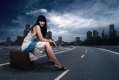 Free Woman On The Road Royalty Free Stock Images - 17986969