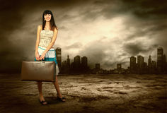 Free Woman On The Road Stock Photography - 18701602