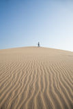 Woman On Top Of The Dune Stock Photography