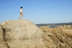 Free Woman On Top Of The Mountain Royalty Free Stock Photo - 4767185