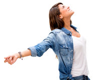 Woman with open arms Stock Photos