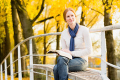 Woman with an Open Bible Stock Image