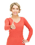 Woman with an open hand ready for handshake Royalty Free Stock Photo