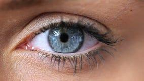 Woman opening her eye