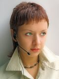Woman operator Stock Image