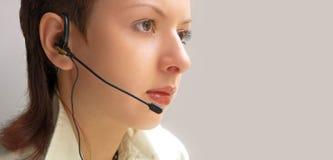 Woman operator Stock Photo