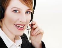 Woman operator. Portrait  in communication Stock Photo