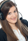 Woman operator Royalty Free Stock Images