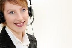 Woman operator. Portrait  in communication Stock Photos