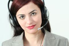 Woman operator Royalty Free Stock Photos