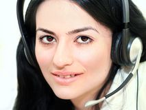 Woman operator Royalty Free Stock Photography