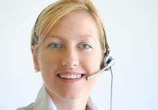 Woman operator Royalty Free Stock Image