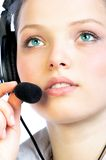Woman-operator. stock image