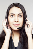 Woman operator with head-set Royalty Free Stock Photos