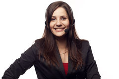Woman operator with headset Royalty Free Stock Photo