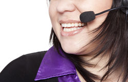 Woman operator with headset Stock Image