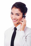 Woman operator Stock Photo