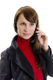 A woman operator support Royalty Free Stock Images