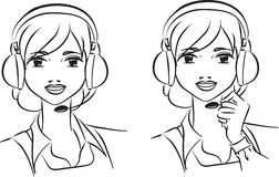 Woman operator in support team Royalty Free Stock Image
