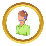 Woman operator vector icon Royalty Free Stock Photography