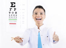 Woman Optician or optometrist Stock Photography