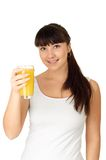 Woman with orange juice. Stock Image