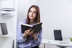 Woman with organizer Royalty Free Stock Photography
