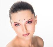 Woman with original make-up Royalty Free Stock Photos