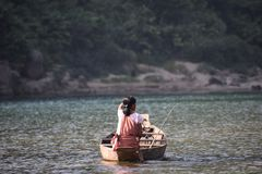 Fishing on a pleasant day royalty free stock image