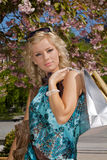 Woman out shopping Royalty Free Stock Photo