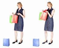 Woman out for shopping Stock Images
