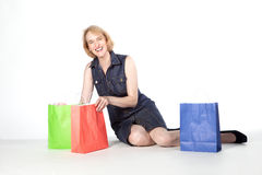 Woman out for shopping Royalty Free Stock Photos