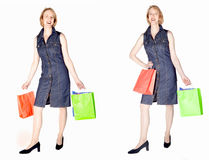 Woman out for shopping Stock Photo