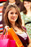 Woman out shopping Royalty Free Stock Image