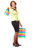 Woman out shopping Stock Photography