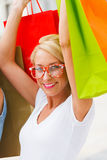 Woman Out Shopping Royalty Free Stock Photos