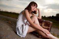 Woman outdoor Royalty Free Stock Photo