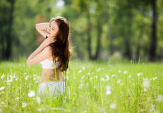 Woman outdoor Royalty Free Stock Images