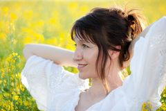 Woman outdoor portrait Royalty Free Stock Photos