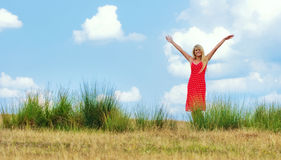 Woman, outdoor shot Stock Photography