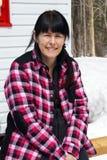 Woman outdoor during winter Stock Photos
