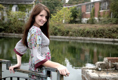 Woman outdoors Royalty Free Stock Photos
