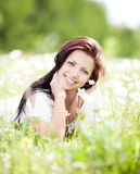 Woman outdoors Stock Image